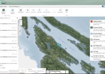 Islands Trust mapIT GIS interface